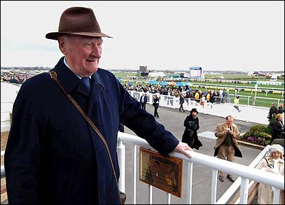 Ginger McCain soaks up the Aintree atmosphere