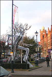 Artists impression of how the Treebeard sculpture could look in Moseley