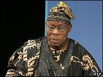Nigeria's President Olusegun Obasanjo