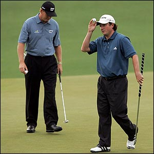 South African Tim Clark (right) and Ernie Els