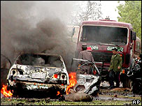 Scene of Saturday's attack in Herat