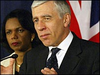 Jack Straw on recent visit to Baghdad with Condoleezza Rice