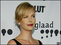 Charlize Theron at the 17th annual GLAAD awards in Los Angeles