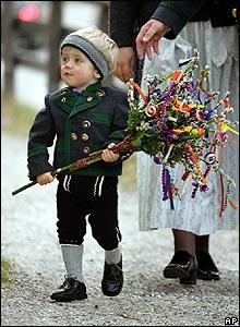 German boy in Ramsau, Bavaria
