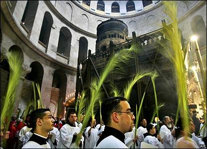 Catholic priests in Jerusalem