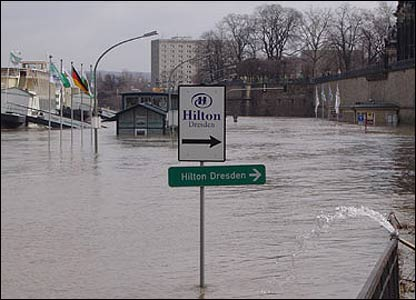 Waterlogged area of Dresden