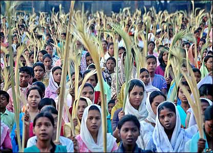 Christian devotees in Ranchi, India