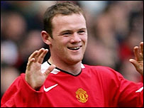 Wayne Rooney celebrates scoring for Manchester United