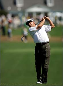 Fred Couples on the first fairway