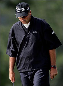 Rocco Mediate looks on in disappointment on Sunday