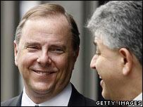 Jeffrey Skilling, left, former Enron CEO