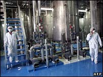 File photograph of Iranian nuclear technicians