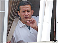 Ollanta Humala on polling day