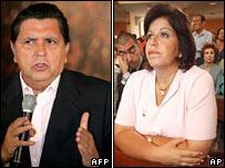 Alan Garcia and Lourdes Flores