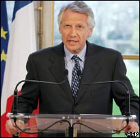 Dominique de Villepin announces the changes in a televised address