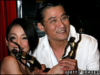 Zhou Xun and Tony Leung Ka-fai