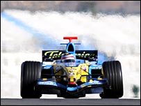 Fernando Alonso testing for Renault in Valencia earlier this year