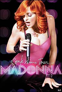 Poster for Madonna's Confessions tour