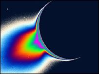 Gr�fica de Encedalus (NASA/JPL/SSI)