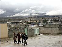 Kurdish schoolgirls in the northern Iraqi city of Halabja