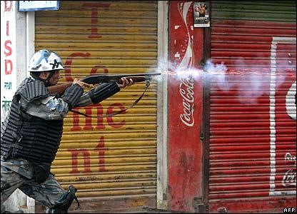 Nepal policeman fires in Gongabu, Kathmandu