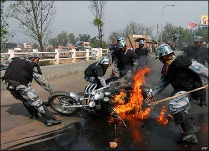 Policemen in Kathmandu