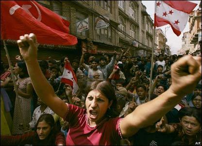 Protesters in Kathmandu