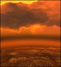 Artist's impression of the surface of Venus