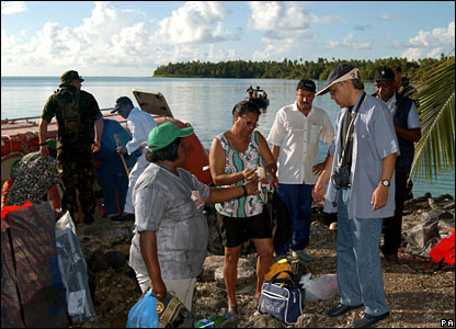 Former islanders arrive on Boddam