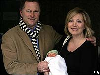 Kirsty Young and Nick Jones with Iona