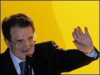 Romani Prodi in Rome, Tuesday 11 April 2006