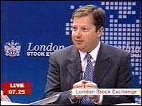 Charles Dunstone in our studio at the London Stock Exchange
