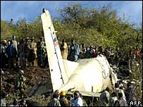 Crash site in northern Kenya