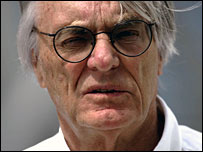 Formula One chief Bernie Ecclestone