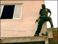 Anti-kidnapping squad gunman on a raid