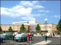 Artist's impression of the Antonine Centre - image courtesy of Steve Lindridge