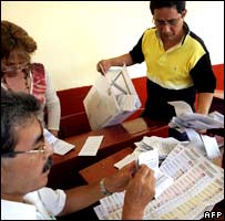 Vote-counting in Peru's election