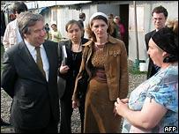 Антонио Гутьерреш в лагере беженцев в Назрани