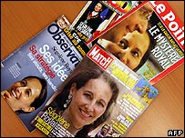 French magazine covers showing Segolene Royal