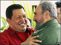 Hugo Ch�vez y Fidel Castro.