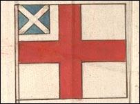 Первые варианты британского флага