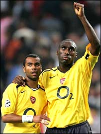 Ashley Cole and Sol Campbell