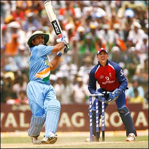 Mahendra Dhoni hits out