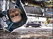 Berlusconi poster in Rome