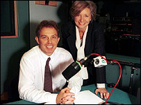Sue Lawley and Tony Blair