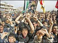 Shias demonstrating