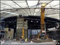 The construction site of The O2
