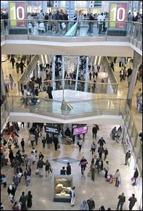 Shopping centre (Image: BBC)