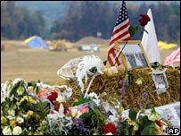 Memorial near crash site of Flight 93