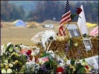 Memorial near crash site of Flight 93